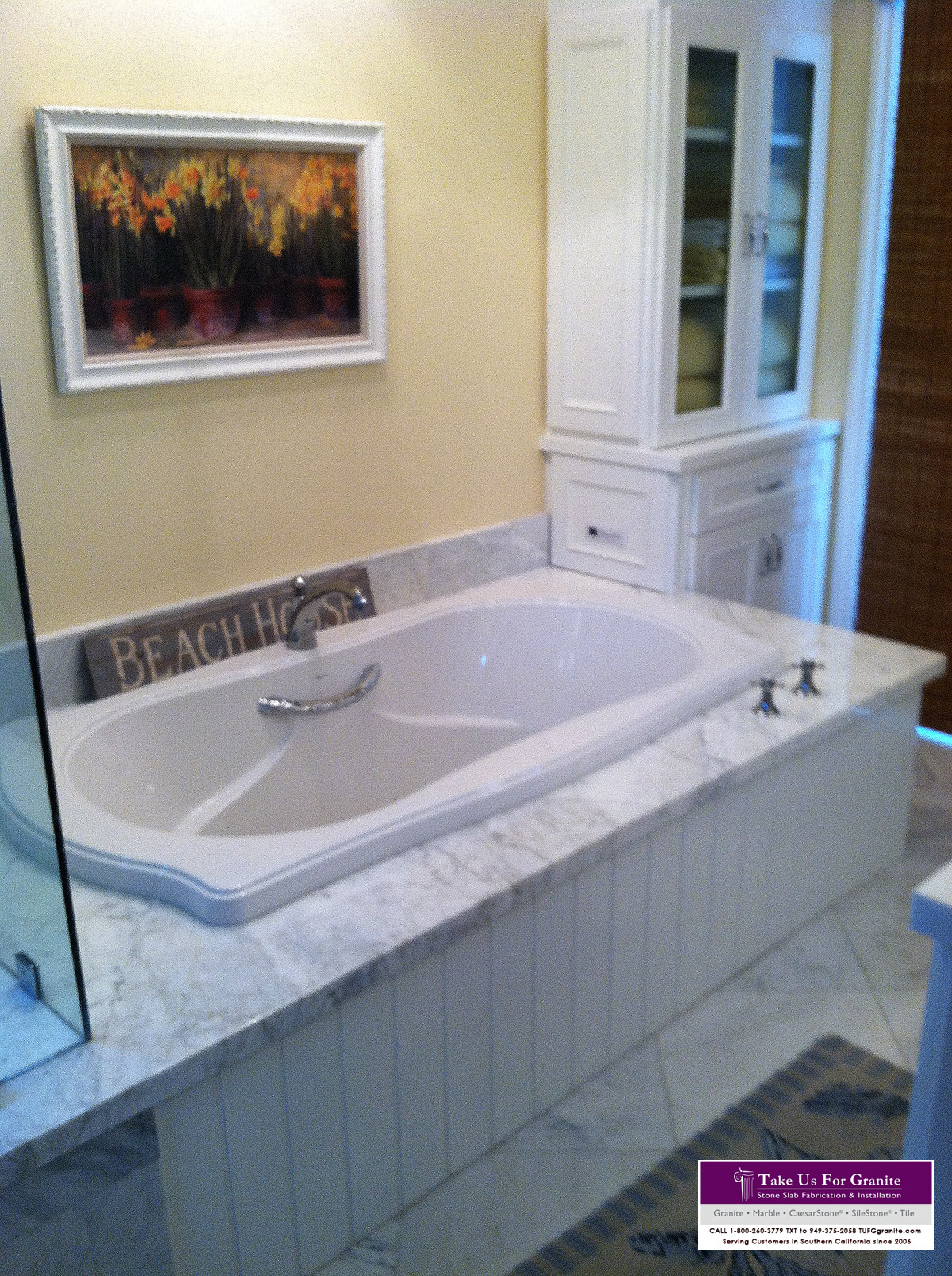 Carrara Bathtub Deck
