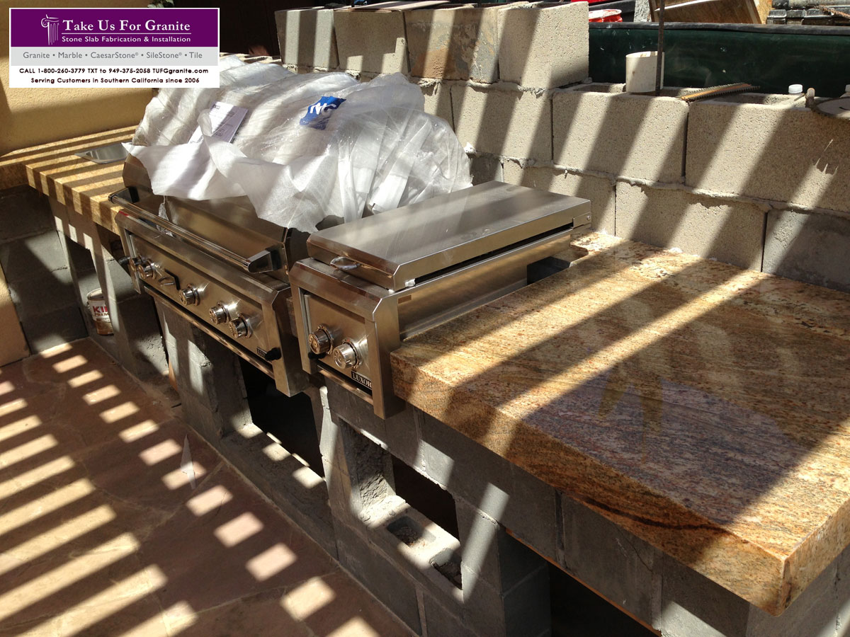 Barbeque kitchen countertop fabricator