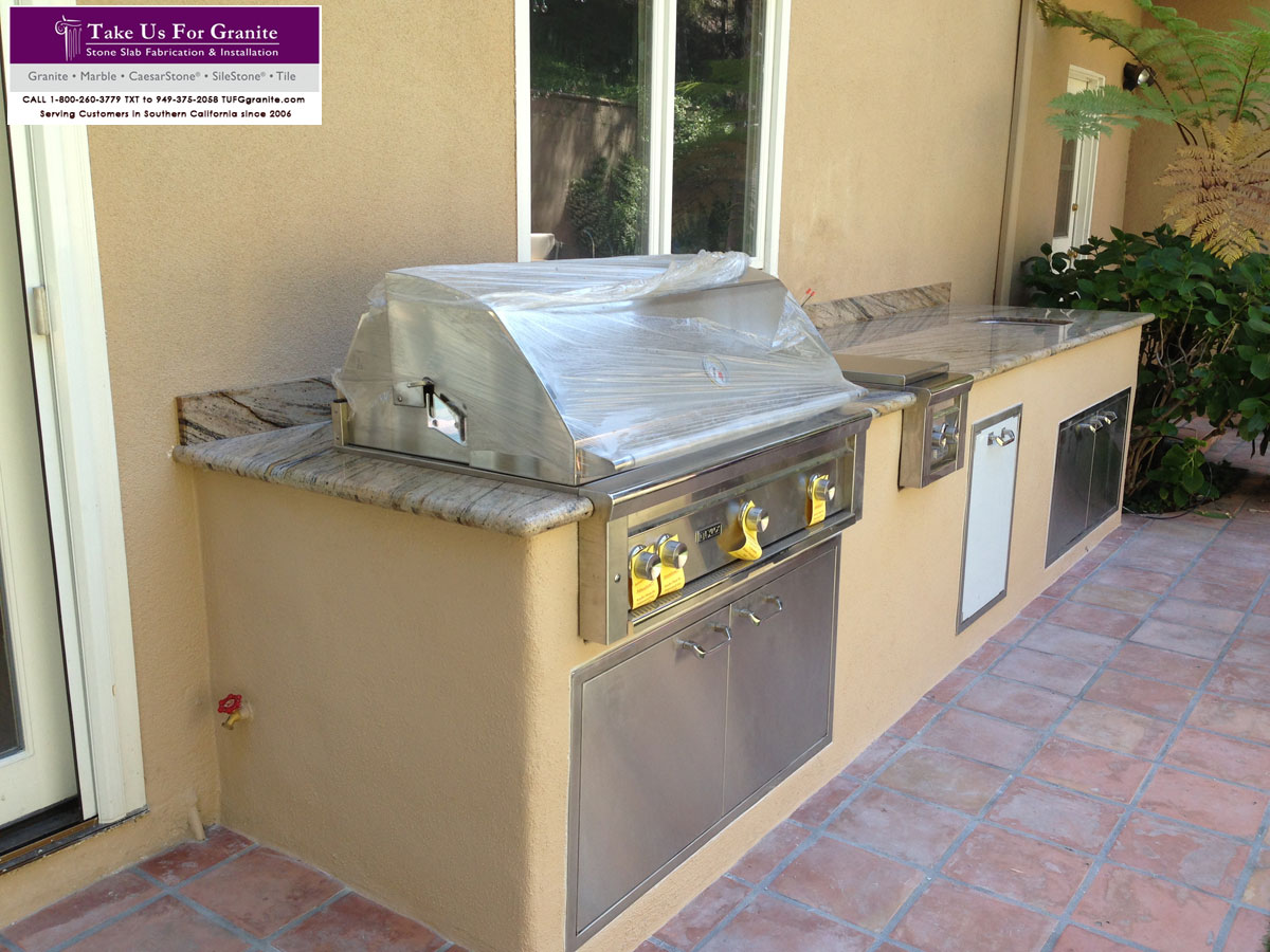 Barbeque countertop fabrication